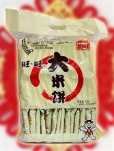 旺旺 大米饼1000g大米制品休闲饼干 雪饼 仙贝办公室休闲零食松脆